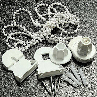Roller Blind Shade Cluth Bracket Bead Chain Repair Parts Set for 25mm Tube Retro