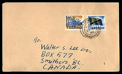 Tanga 1966 Cancel On Cover To Smithers Bc Canada