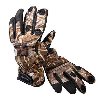 Prologic NEW Fishing Max5 Camo Neoprene Foldback Thermal Gloves *All Sizes*