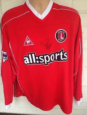 Signed Scott Parker Player Issue Or Match Worn Charlton Athletic Football Shirt