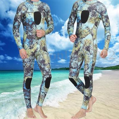 Mens Camo Camouflage 3mm Neoprene Zipper Back Diving Scuba Spearfishing Wetsuit