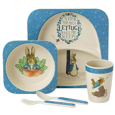 Beatrix Potter Peter Rabbit Organic Bamboo Children's Dinner Set