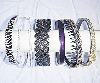 Retro Vintage Hair Bands 6 Lucite Material Bling Classy Mixed Colour Alice Bands