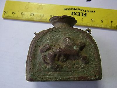 Ancient Bronze Beautiful Zoomorphic Inkwell