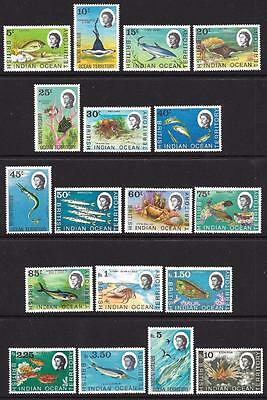 British Indian Ocean Territory 1968-70 Set to 10r (MNH)