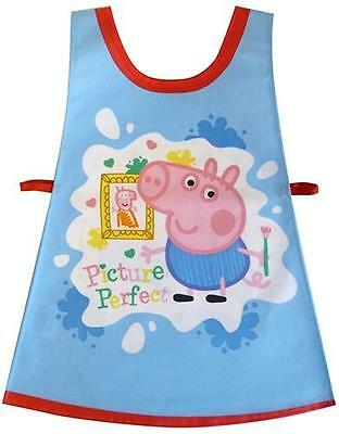 Peppa Pig - Children's Wipe Clean PVC Cotton Picture Tabard Apron Shreds