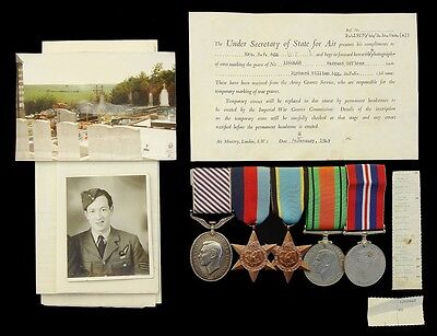 Ww2 Group Five Distinguished Flying Medal, 1939-1945 Star,air Crew,defence & War