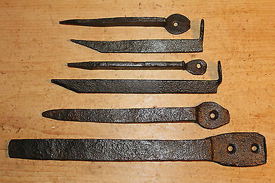 6 Antique Wrought Fixing Spikes/Brackets~Fire Surround/Dresser Rack/Door Frame~
