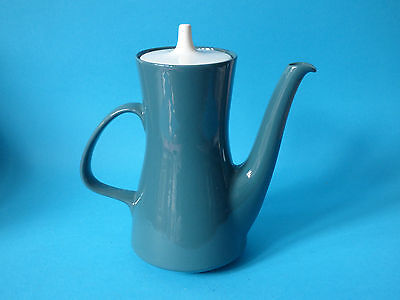 Stunning Large Vintage Blue Green Poole Pottery Coffee Pot 21.5 X 20Cm
