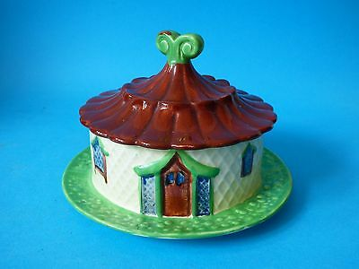 Vintage Shorter And Sons Pottery Ye Olde Cottage Ware Nippon Butter Cheese Dish
