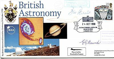 British Astronomy 1990 SIGNED CERTIFIED Bill Pertwee, EG Maunder, Concorde flown