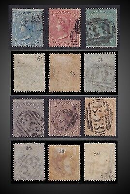 1860 1862 1863 Mauritius Rare Used Queen Victoria Sct 25-30 Sg 47-52 B53 Cancell