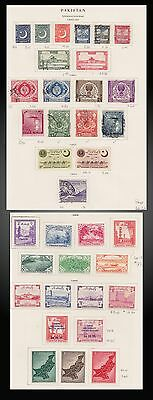 1950 - 1955 Pakistan Lot Mint Hinged And Used On Old Page Album
