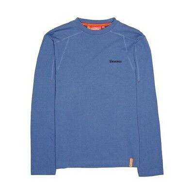 Bear Grylls Expedition Long Sleeved Base Layer Top in Cobalt XXS