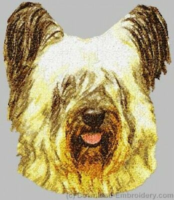 Embroidered Short-Sleeved T-Shirt - Skye Terrier DLE2523