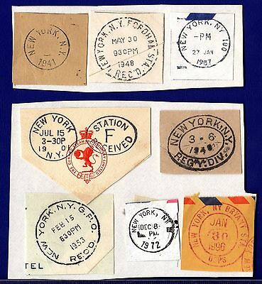 Postmarks CUNARD STEAM Co. NEW YORK CDS Interesting Collection USA America