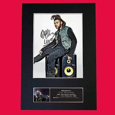 THE WEEKND Autograph Mounted Signed Photo RE-PRINT A4 636