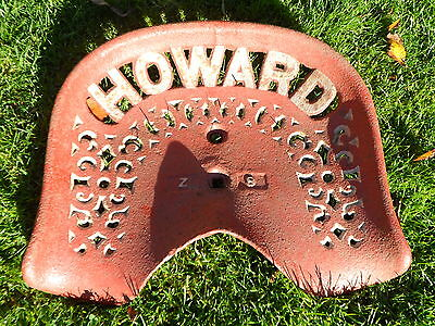 Vintage Howard Z8 Cast Iron Tractor Implement Seat