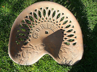 Vintage Orion Cast Iron Tractor Implement Seat