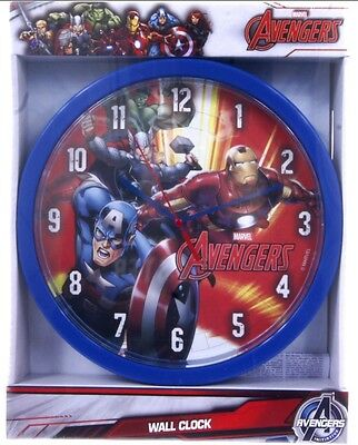 """Official New 10"""" Marvel Avengers Red Wall Clock Childrens Clock Bedroom Clock"""