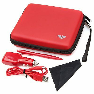 Nintendo 2DS RED Butterfox Essentials Travel Pack - Case Stylus Charger etc NEW