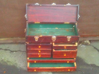 Good Size Vintage Engineers Toolbox with Seven Drawers