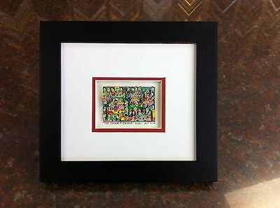 "James Rizzi 3-D ""The Brunch Bunch "" Signed & Numbered 2002 Mini Framed"