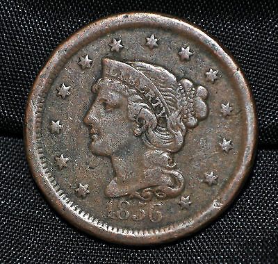 1856 USA Large One Cent F-12
