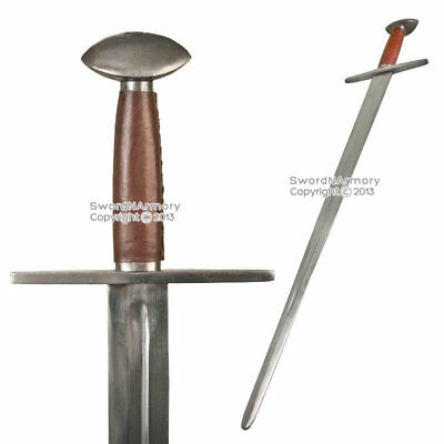 Functional Handmade Medieval Norman Knight Arming Sword Cold Peened Tang SCA