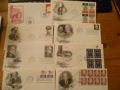 USA 1970s   First Day Of Issue Covers Lot 8 pieces