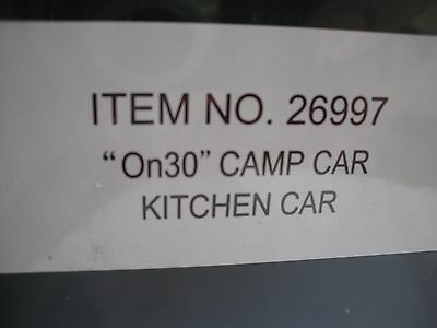 Spectrum 26997 Camp Car Train Car, Kitchen Car, Commisary, On30 Scale