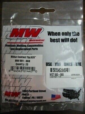 MILLER 000068 .035 CONTACT TIPS- QTY/25 by Masterweld