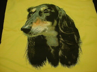 SALUKI large ADULT T SHIRT dog breed YELLOW L tee  puppy