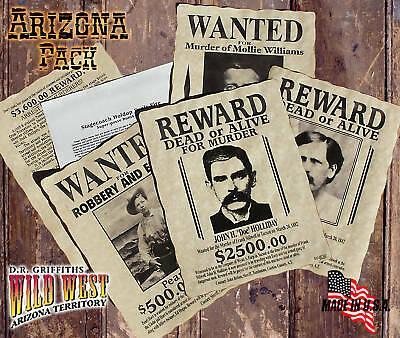 Wanted Posters Old West Arizona Pack EXCLUSIVE!