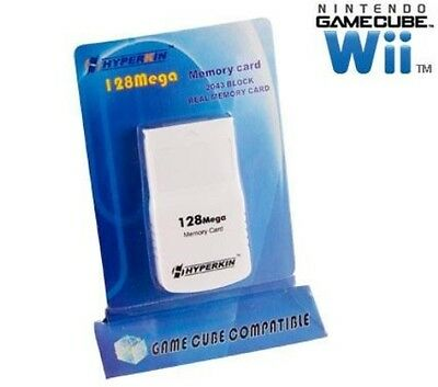 New 128Mb Memory Card For Nintendo Gamecube / Wii