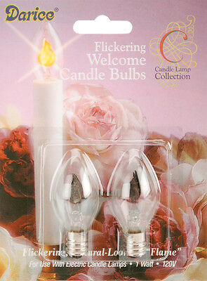 Candle Lamp Collection Flickering Candle Bulbs-1 Watt 2/Pkg 082676051012