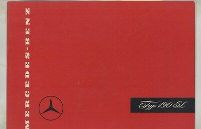 1954 1955 Mercedes Benz 190SL Prestige Brochure German ww3689
