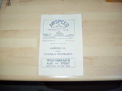 Airspeed v Camper & Nicholson's Portsmouth Junior Cup 2nd Rd 1950/1