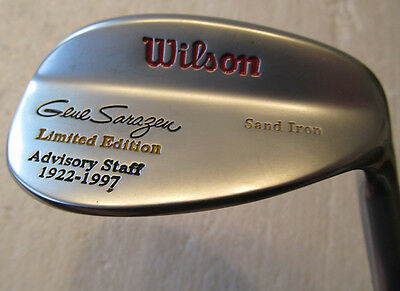 Wilson Gene Sarazen Rh Sand Wedge Limited Edition  Never Used