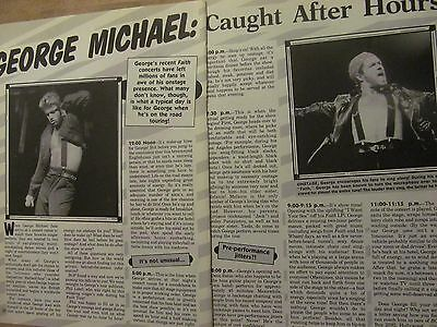 George Michael, Two Page Vintage Clipping