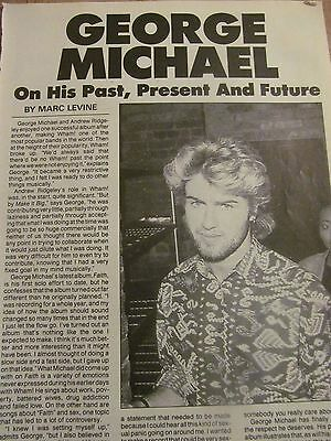 George Michael, Full Page Vintage Clipping