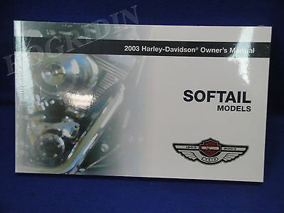 2003 Harley Davidson softail owners manual heritage fatboy night train springer