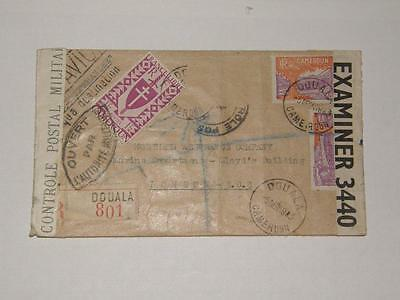 (A292) 1943 Censored Cover From Cameroun To London Examiner 3440