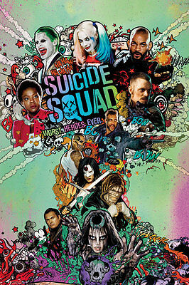 SUICIDE SQUAD Poster - ONE SHEET - NEW SUICIDE SQUAD MOVIE POSTER FP4330