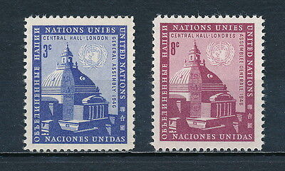 United Nations #61-2 MNH, Central Hall, London, 1958