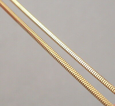 """14K Yellow GOLD 1.5mm Square Snake Chain 18"""" Necklace  6.8 Grams Italian ITALY"""
