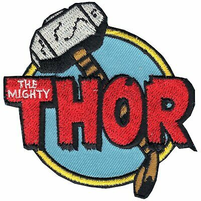 Official Marvel Comics Avengers Thor The Mighty Iron on Embroidered Patch