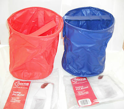 PVC 8 Litre Collapsible Folding Space Saving Bucket Camping Travel Home Storage