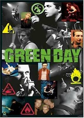 GREEN DAY ~ GROUP COLLAGE 22x34 MUSIC POSTER Billie Joe Armstrong NEW/ROLLED!