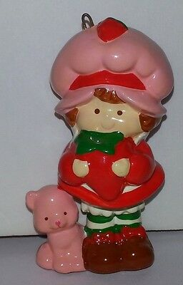 Vintage 1984 Strawberry Shortcake Ceramic Christmas Ornament american greeting